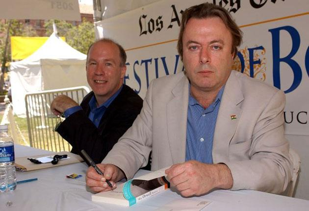 Christopher Hitchens, right, apparently made a quick visit to Leys School's Methodist chapel