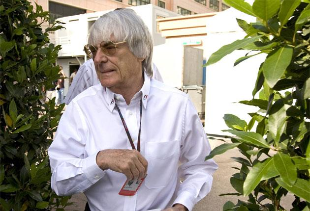 Bernie Ecclestone says that he is 'concerned' about the prospect of Ferrari leaving F1