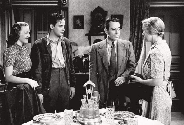 'Many fine performances,' said Bette Davis: Bryan (left) with William Holden and George Raft in 'Invisible Stripes'