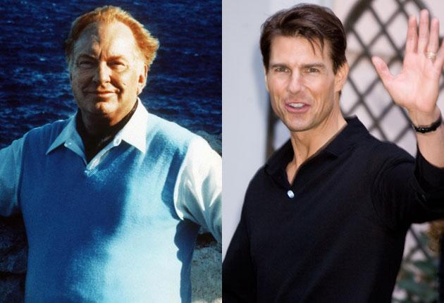 Tom Cruise (right) lobbied Nicolas Sarkozy not to support prosecution of the Church of Scientology, founded by L Ron Hubbard (left)