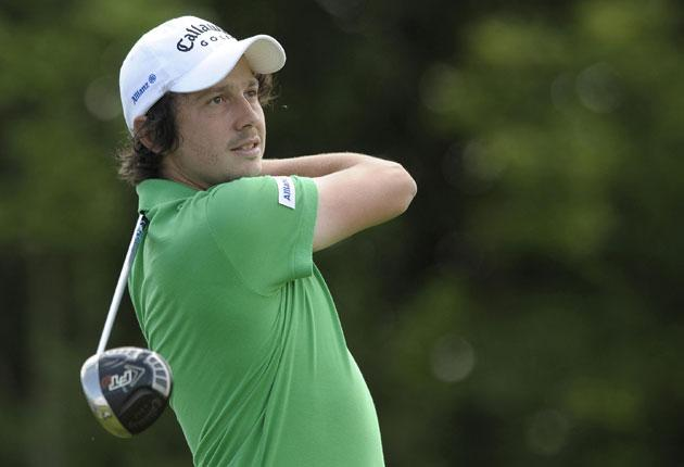 France's Michael Lorenzo-Vera tees off from the 5th during Round 2 of The European Open