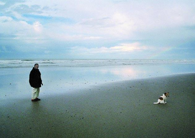 The director's mother – a refugee from Nazi Germany – walks her dog in 'Sleep Furiously'