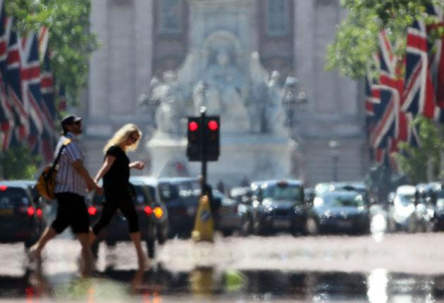 There were highs of more than 25C in London