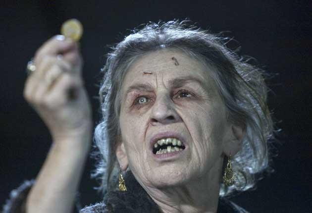Hell's granny: Lorna Raver as vengeful crone Mrs Ganush