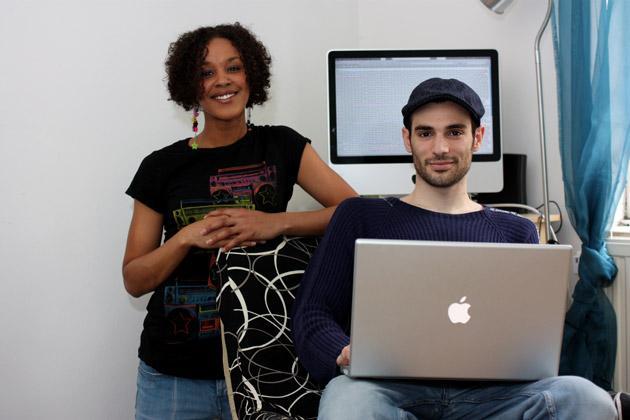 Net gains: Spyros Pyrgiotis with his girlfriend, Liana Stewart