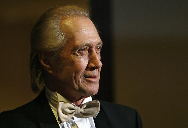 David Carradine poses at the 60th Annual Directors Guild of America Awards in Century City, California, in January 2008.