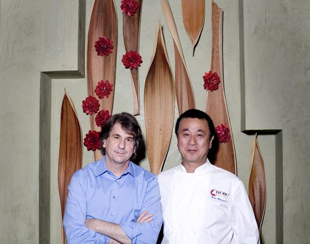 Ahead of the pack: although their businesses are different, Rockwell (left) and Nobu share a curiosity and desire to innovate