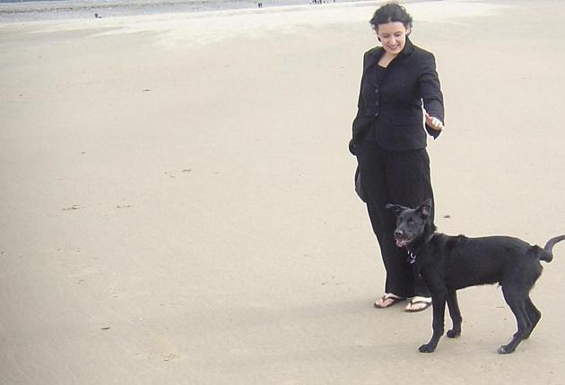 Devoted: Marta Ciesta and Taff. Keeping a pet secretly can lead to cancellation of the tenancy agreement