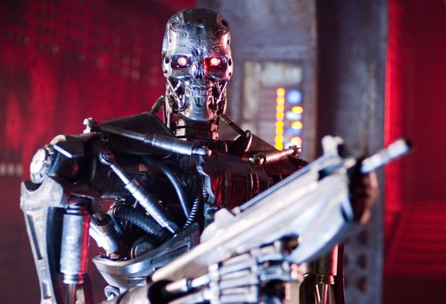Silver service: Live actors in 'Terminator Salvation' are strictly playing support to a cast of killer robots