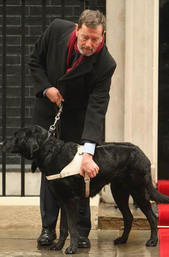 David Blunkett and his dog Sadie