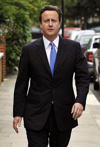 Cameron is thought to be displeased by a recently erected advertising tower near his Notting Hill home