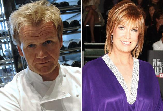 Gordon Ramsay was back in hot water after likening the Australian broadcaster Tracy Grimshaw to a mocked-up image of a pig