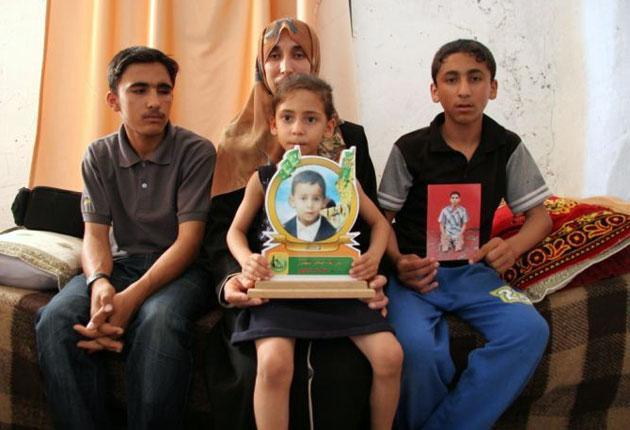 Members of Al-Jadeli family in Gaza