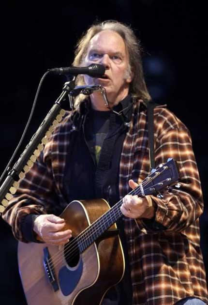 Striking a chord: Neil Young played a set of early work