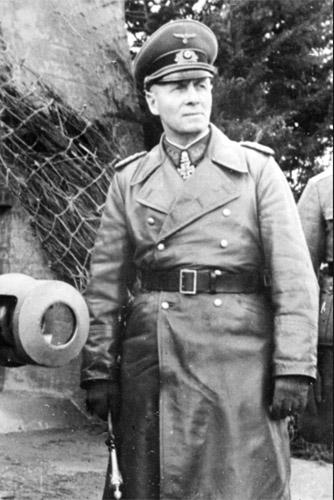 Erwin Rommel, described by Rudolf Schneider as 'a very correct German soldier'