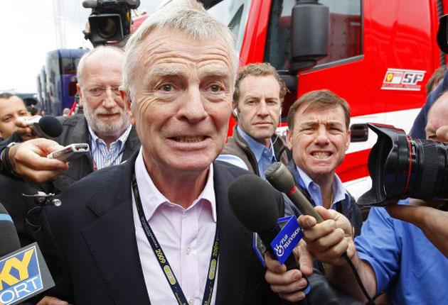 FIA president Max Mosley made an appearance at the British Grand Prix yesterday