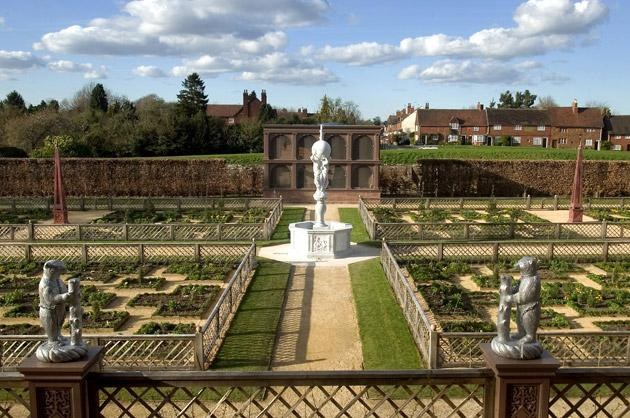 The gardens of Kenilworth Castle, painstakingly reconstructed by English Heritage