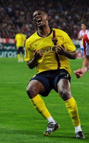 Eto'o has been offered a new two-year deal by Barcelona