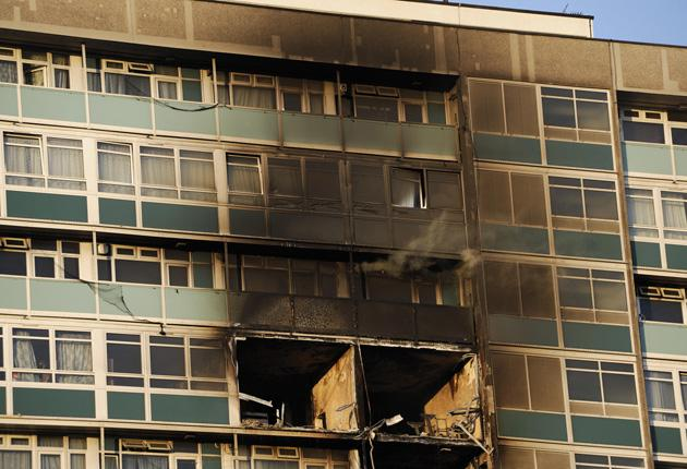 Six people died including a three week old baby when the 12 storey block in South East London caught ablaze