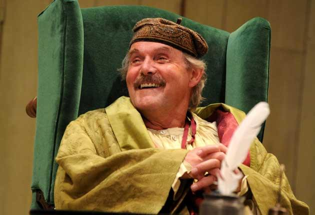 Clive Francis as Argan, the sick man of the play's title