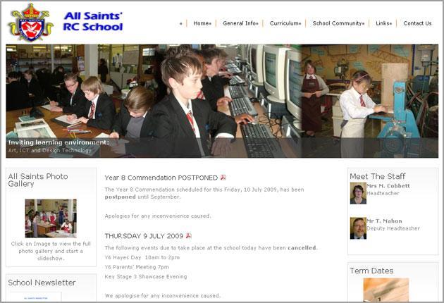 The school website