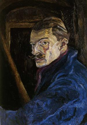 Haig's 1945 painting 'Self Portrait Colditz', one of his many paintings from that time, taken from Douglas Hall's book 'Haig the Painter' (Atelier Books)