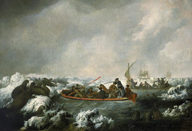 All at sea: John Webber's 'Shooting Sea Horses' is on display in Greenwich at the National Maritime Museum