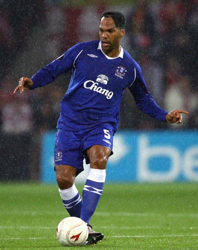Lescott (above) is wanted along with Chelsea's John Terry to form the heart of City's defence