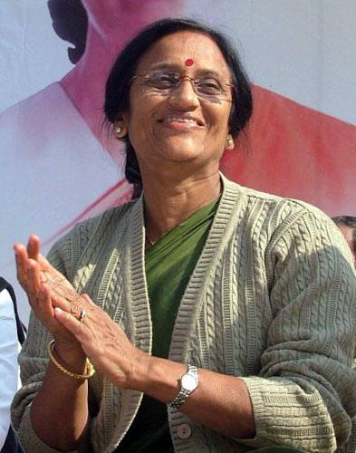 Rita Bahuguna Joshi, a senior Congress party leader, who was arrested for allegedly insulting Mayawati