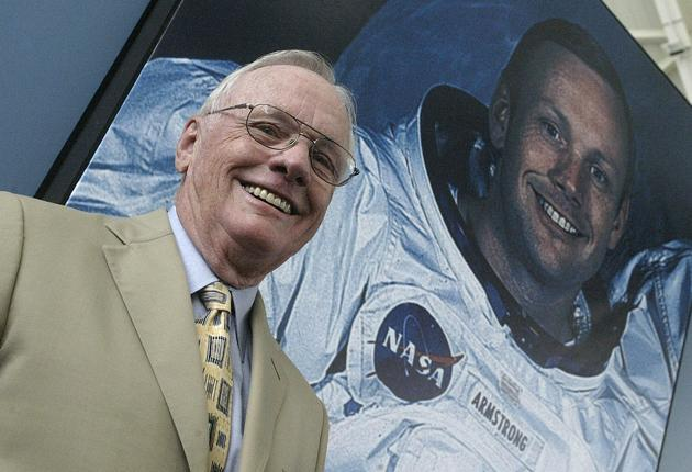 Neil Armstrong: Four decades on and still the debate rages over what he meant to say 'One small step for man' in general or 'a man' in particular. Just imagine if he'd tripped.