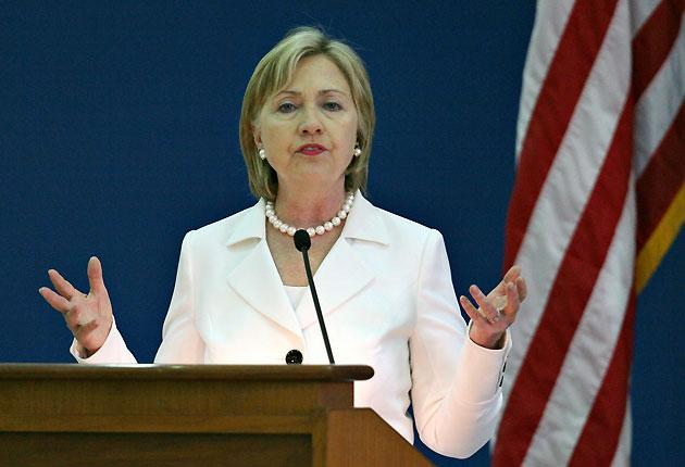 Hillary Clinton visited Northern Ireland six times between 1995 and 2000