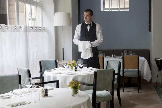 The service, provided by impeccably dressed waiters, is seamless
