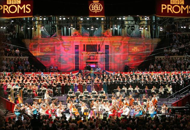 The BBC symphony orchestra at the Last Night of the Proms last year