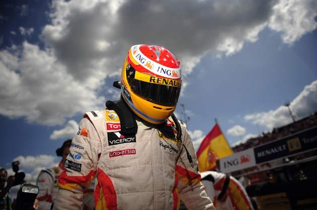 Alonso had been leading the race