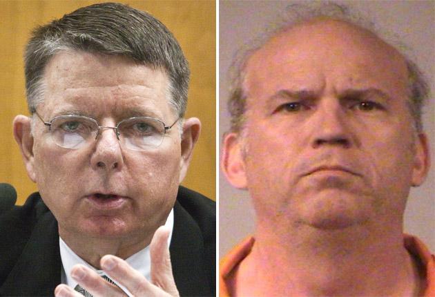 Dr George Tiller, left, was allegedly shot at close range by Scott Roeder