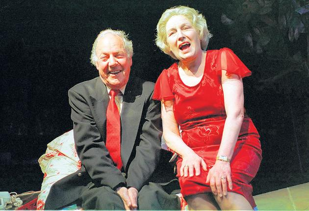 'Reliable and versatile' : Towb with Marlene Sidaway in 'Kiss Me Like You Mean It' at the Soho Theatre in 2001