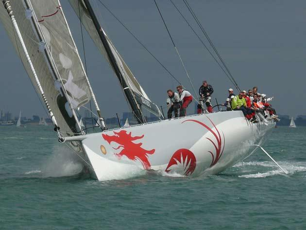 Hong Kong 80-footer Beau Geste was pipped for a new Round the Isle of Wight record by just 2min 13sec