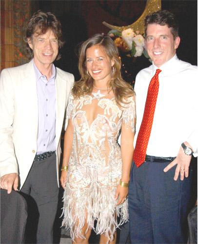 Bob Diamond, the head of Barclays Capital, with Mick and Jade Jagger in 2004