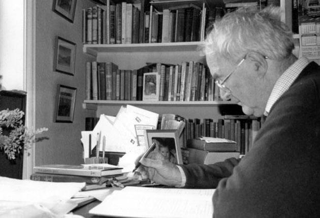 'Meticulously observant': Middleton at work in his study