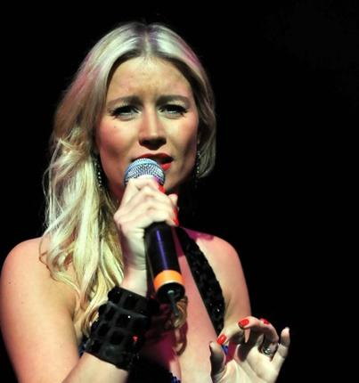 Denise Van Outen performs her Edinburgh show 'Blondes' at the Underbelly