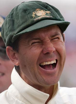Ricky Ponting enjoys the moment yesterday after his side completed victory in the fourth Test at Headingley inside three days.