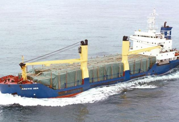 'Arctic Sea', with a 15-strong Russian crew, vanished with its £1m cargo of timber at the end of July