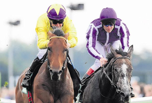 MickKinane makes no mistake as Sea The Stars (left) is too strong for Mastercraftsman in the Juddmonte International