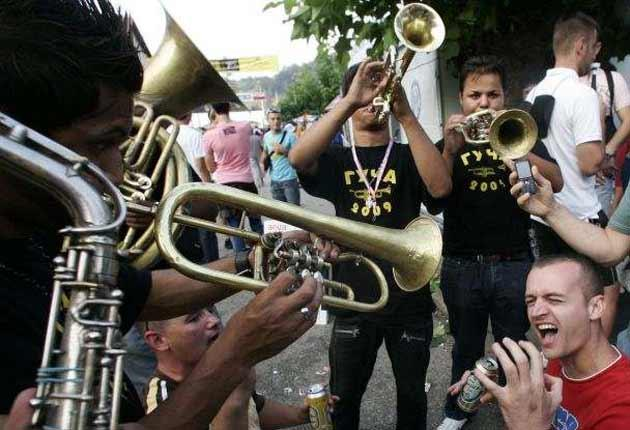 Blow by blow: The sound of brass bands echoes through the streets of Guca