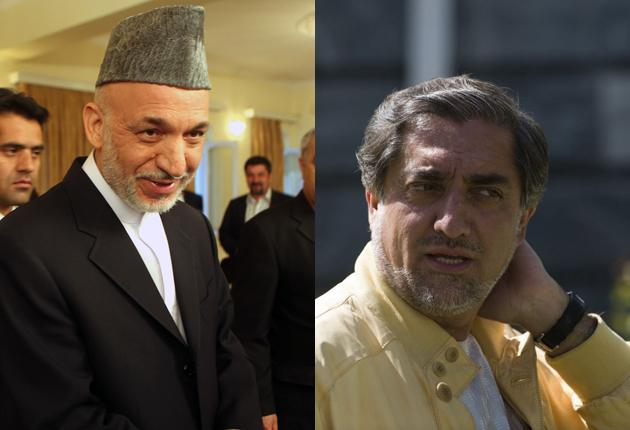 Hamid Karzai and his main rival for the Afghan presidency Abdullah Abdullah are both claiming victory