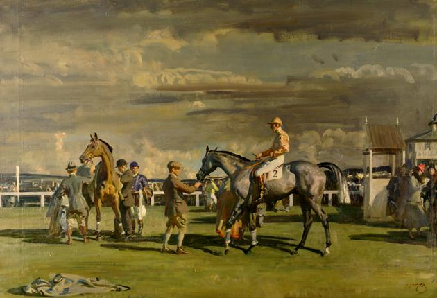 Up for sale? After the Race by Sir Alfred Munnings could go under the hammer to pay for a museum dedicated to the ill-fated Titanic