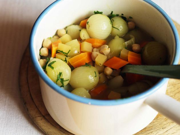 Chickpea and autumn vegetable casserole
