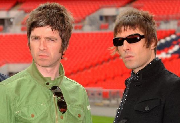 Noel Gallagher, left, with his brother Liam last October. In a statement on Oasis's website, Noel said he 'simply could not go on working with Liam any longer'