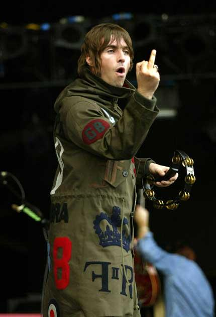 Up yours:  Liam Gallagher