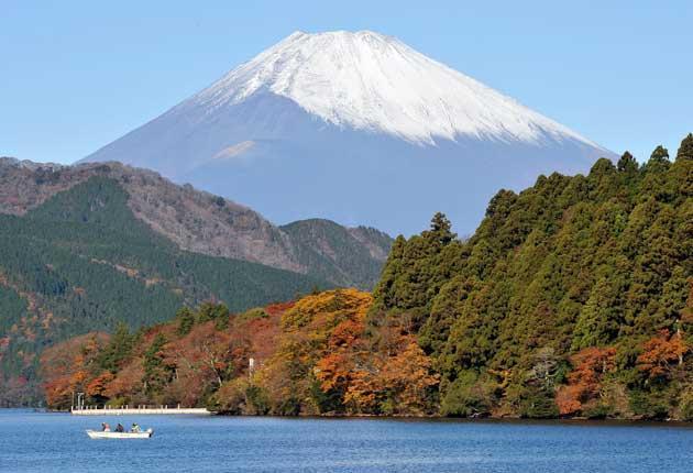 Colour code: an autumnal Mount Fuji